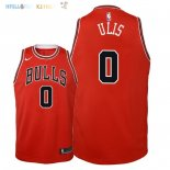 Maillot NBA Enfant Chicago Bulls NO.0 Tyler Ulis Rouge Icon 2018 Pas Cher