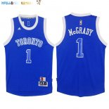 Maillot NBA Toronto Raptors NO.1 Tracy McGrady Bleu Blanc Pas Cher