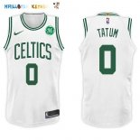 Maillot NBA Boston Celtics NO.0 Jayson Tatum Blanc 2017-2018 Pas Cher