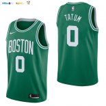 Maillot NBA Boston Celtics NO.0 Jayson Tatum Vert Icon 2017-2018 Pas Cher