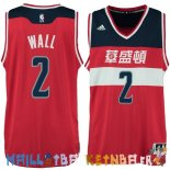 Maillot NBA Washington Wizards NO.2 John Wall Washington Rouge Pas Cher
