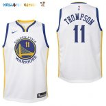 Maillot NBA Enfant Golden State Warriors NO.11 Klay Thompson Blanc Association Pas Cher