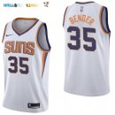 Maillot NBA Phoenix Suns NO.35 Dragan Bender Blanc Association 2017-2018 Pas Cher