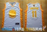Maillot NBA Golden State Warriors NO.11 Klay Thompson Or Pas Cher