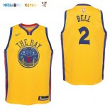Maillot NBA Enfant Golden State Warriors NO.2 Jordan Bell Nike Jaune Ville Pas Cher