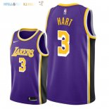 Maillot NBA Los Angeles Lakers NO.3 Josh Hart Pourpre Statement 2018-2019 Pas Cher