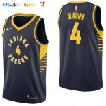 Maillot NBA Indiana Pacers NO.4 Victor Oladipo Marine Icon 2017-2018 Pas Cher