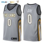 Maillot NBA Cleveland Cavaliers NO.0 Kevin Love Nike Gris Ville 2017-2018 Pas Cher