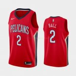 Maillot New Orleans Pelicans Nike NO.2 Lonzo Ball Rouge Statement 2019-20 Pas Cher