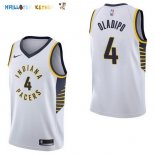 Maillot NBA Indiana Pacers NO.4 Victor Oladipo Blanc Association 2017-2018 Pas Cher