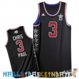 Maillot NBA 2015 All Star NO.3 Chris Paul Noir Pas Cher