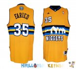 Maillot NBA Denver Nuggets NO.35 Kenneth Faried Jaune Pas Cher