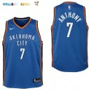 Maillot NBA Enfant Oklahoma City Thunder NO.7 Carmelo Anthony Bleu Icon Pas Cher