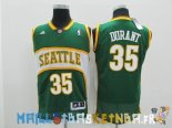 Maillot NBA Seattle Supersonics NO.35 Kevin Durant Vert Pas Cher