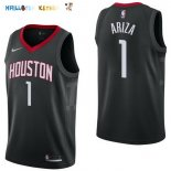 Maillot NBA Houston Rockets NO.1 Trevor Ariza Noir Statement 2017-2018 Pas Cher