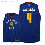 Maillot NBA Enfant Denver Nuggets NO.4 Paul Millsap Bleu Statement 2018-19 Pas Cher
