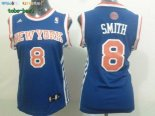 Maillot NBA Femme New York Knicks NO.8 J.R.Smith Bleu Pas Cher