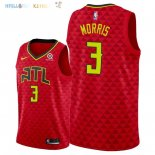 Maillot NBA Atlanta Hawks NO.3 Jaylen Morris Rouge Statement 2018 Pas Cher