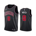 Maillot NBA Chicago Bulls Nike NO.0 Coby White Noir Statement 2019-20 Pas Cher