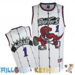 Maillot NBA Toronto Raptors NO.1 Tracy McGrady Retro Bleu Pas Cher
