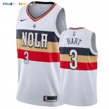 Maillot New Orleans Pelicans NO.3 Josh Hart Blanc Earned 2019-20