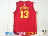 Maillot NBA Indiana Pacers NO.13 Paul George Rouge Pas Cher