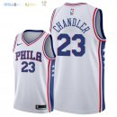 Maillot NBA Philadelphia Sixers NO.23 Wilson Chandler Blanc Association 2018 Pas Cher