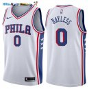 Maillot NBA Philadelphia Sixers NO.0 Jerryd Bayless Blanc Association 2017-2018 Pas Cher