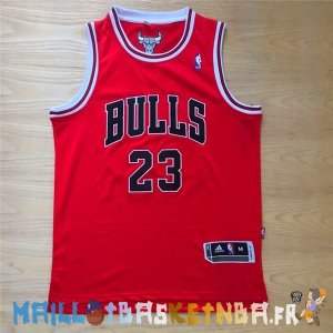 Maillot NBA Chicago Bulls NO.23 Michael Jordan Rouge Noir Pas Cher