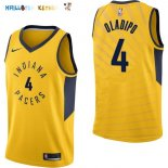 Maillot NBA Indiana Pacers NO.4 Victor Oladipo Jaune Statement 2017-2018 Pas Cher