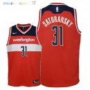 Maillot NBA Enfant Washington Wizards NO.31 Tomas Satoransky Rouge Icon 2018 Pas Cher