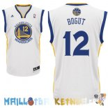 Maillot NBA Golden State Warriors NO.12 Andrew Bogut Blanc Pas Cher