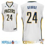 Maillot NBA Indiana Pacers NO.24 Paul George Blanc Pas Cher