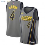 Maillot NBA Enfant Indiana Pacers NO.4 Victor Oladipo Nike Gris Ville 2018-19 Pas Cher
