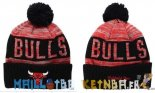 New Era Bonnet NBA 2016 Chicago Bulls Rouge Noir Pas Cher