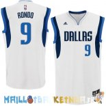 Maillot NBA Dallas Mavericks NO.9 Rajon Rondo Blanc Pas Cher