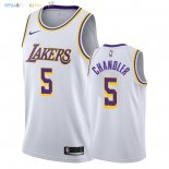 Maillot NBA Los Angeles Lakers NO.5 Tyson Chandler Blanc Association 2018-2019 Pas Cher