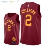 Maillot NBA Indiana Pacers NO.2 Darren Collison Nike Retro Bordeaux 2018-2019 Pas Cher