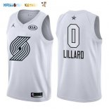 Maillot NBA 2018 All Star NO.0 Damian Lillard Blanc Pas Cher