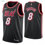 Maillot NBA Miami Heat NO.8 Tyler Johnson Retro Noir 2018 Pas Cher