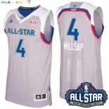 Maillot NBA 2017 All Star NO.4 Paul Millsap Gray Pas Cher