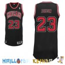 Maillot NBA Chicago Bulls NO.23 Michael Jordan Noir Rouge Pas Cher