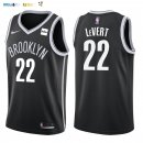 Maillot NBA Brooklyn Nets NO.22 Caris LeVert Noir 2017-2018 Pas Cher