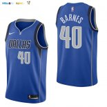 Maillot NBA Dallas Mavericks NO.40 Harrison Barnes Bleu Icon 2017-2018 Pas Cher