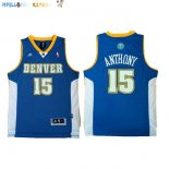 Maillot NBA Denver Nuggets NO.15 Carmelo Anthony Retro Bleu Pas Cher