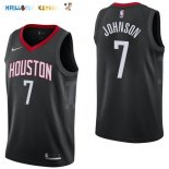 Maillot NBA Houston Rockets NO.7 Joe Johnson Noir Statement 2017-2018 Pas Cher