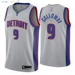Maillot NBA Detroit Pistons NO.9 Langston Galloway Gris Statement 2018 Pas Cher