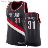 Maillot NBA Femme Portland Trail Blazers NO.31 Seth Curry Noir Icon 2018 Pas Cher