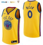 Maillot NBA Golden State Warriors NO.0 Patrick McCaw Nike Jaune Ville 2017-2018 Pas Cher