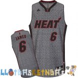 Maillot NBA Miami Heat 2013 Moda Estatica NO.6 James Pas Cher